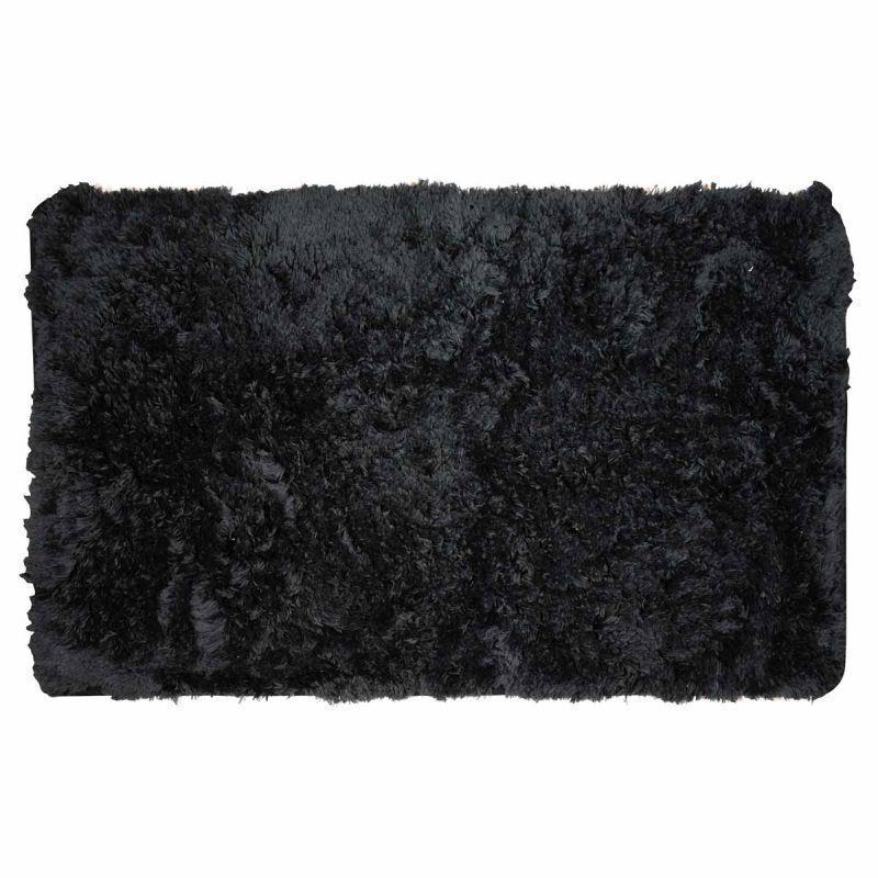 Πατάκι/ταπέτο μπάνιου Fluffy βαμβακερό μαύρο 50x80cm Estia 02-7409
