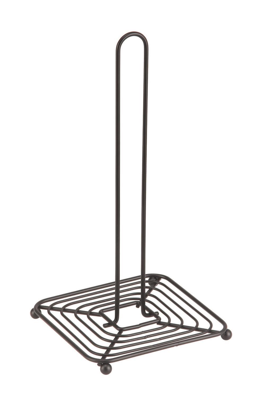 Βάση για ρολό κουζίνας μεταλλική μαύρη 15.5×15.5x30cm Estia 01-1339