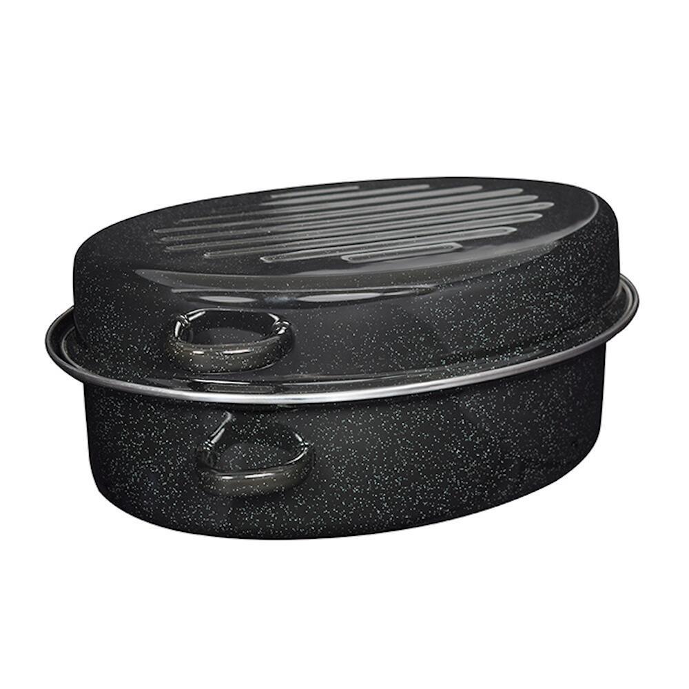 Γάστρα εμαγιέ μαύρη σε συσκευασία δώρου 38x27x17cm Estia 01-8147