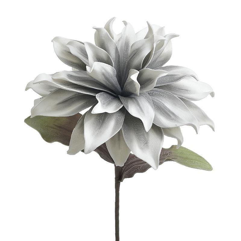 Διακοσμητικό κλαδί λουλούδι γκρι/πράσινο pl Υ120cm Inart 3-85-246-0211
