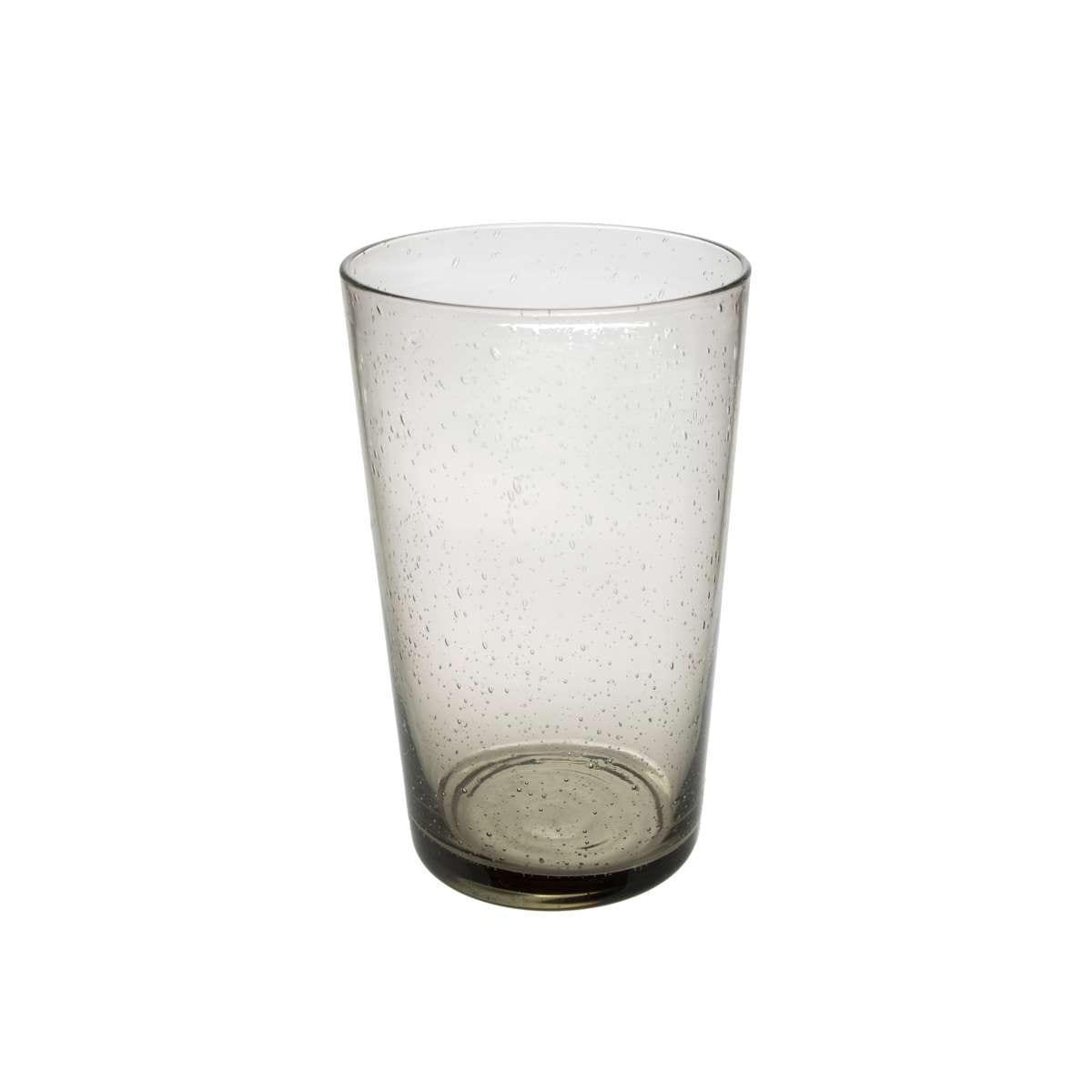 S/6 Ποτήρι νερού φυσητό Sunset γυάλινο γκρι φιμέ 480ml