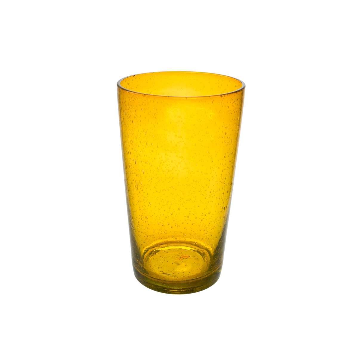 S/6 Ποτήρι νερού φυσητό Sunset γυάλινο μελί 480ml