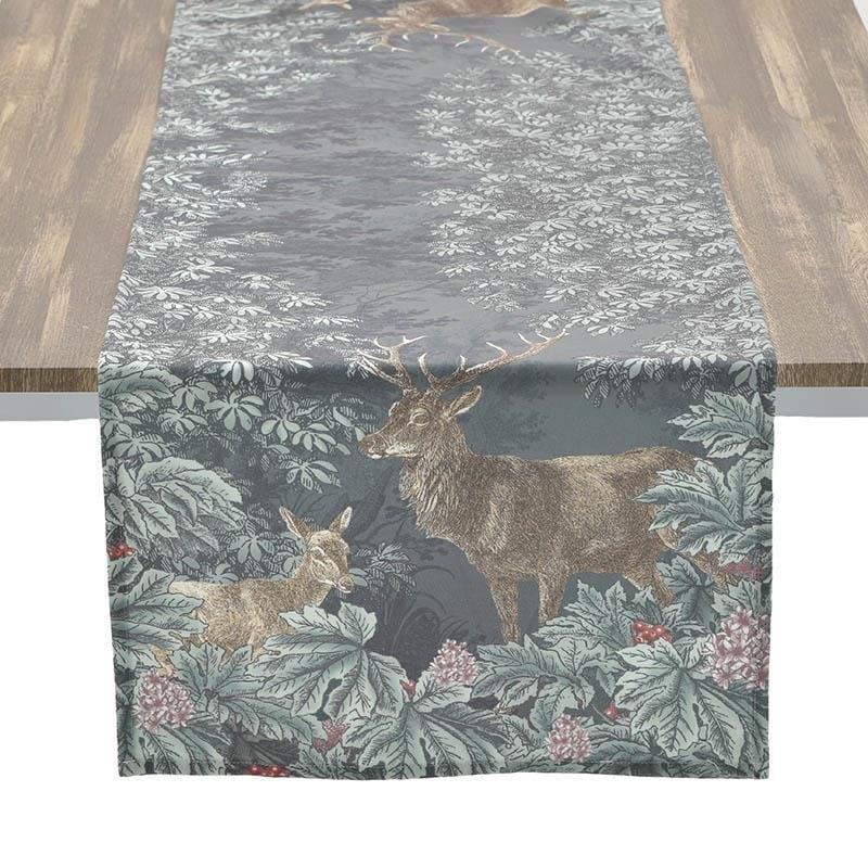 Τραβέρσα ελάφι υφασμάτινη πολύχρωμη 40x140cm Inart 3-40-054-0042