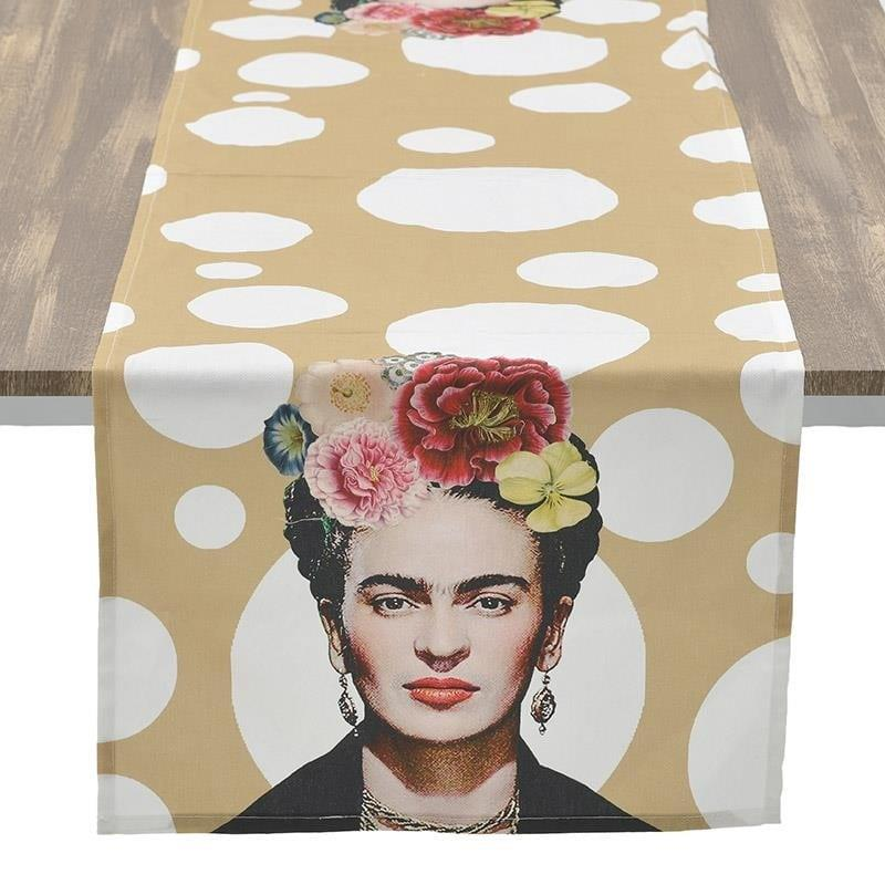Τραβέρσα Frida Kahlo υφασμάτινη πολύχρωμη 40x140cm Inart 3-40-054-0039