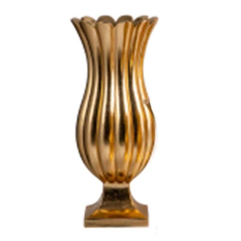 Βάζο διακοσμητικό fiberglass χρυσό 36x36x60cm Inart 3-70-212-0015