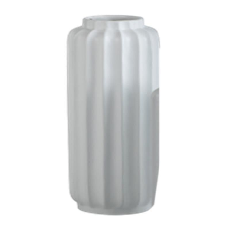 Βάζο διακοσμητικό fiberglass λευκό 33x33x83cm Inart 3-70-212-0024