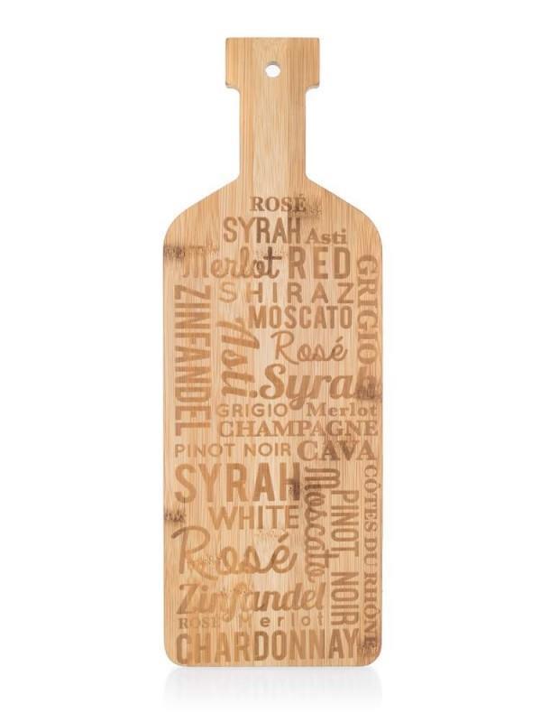 Επιφάνεια κοπής γράμματα ξύλινη natural 40x14x1.5cm