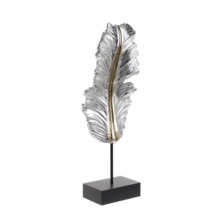 Φτερό polyresin ασημί/χρυσό 17x9x49cm Inart 3-70-547-0574