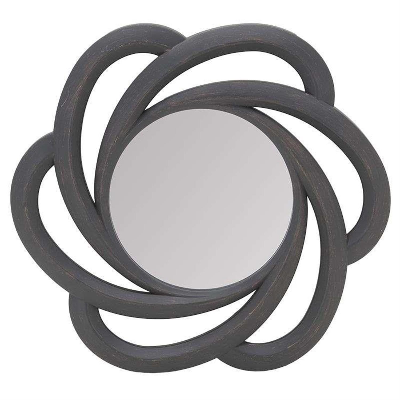 Καθρέπτης τοίχου pl αντικέ καφέ 51x6x51cm Inart 3-95-284-0006