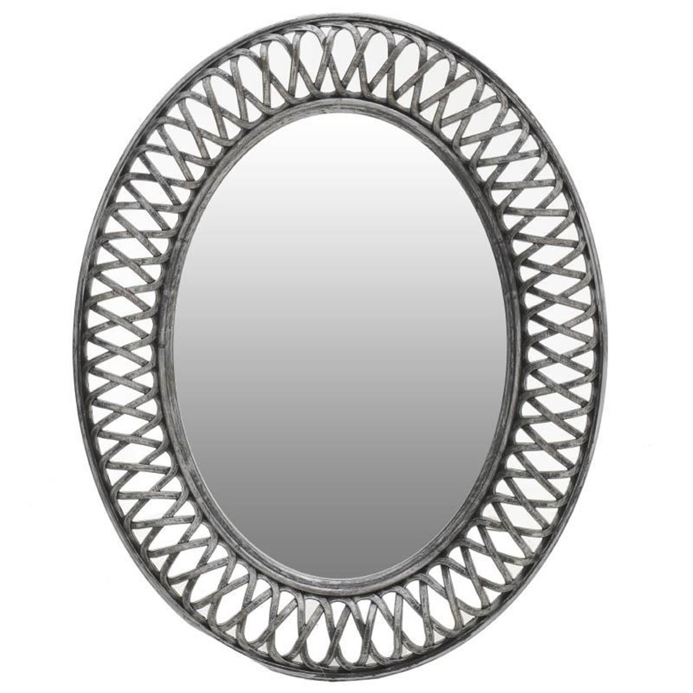 Καθρέπτης τοίχου polyresin γκρι 61x5x76cm Inart 3-95-925-0002