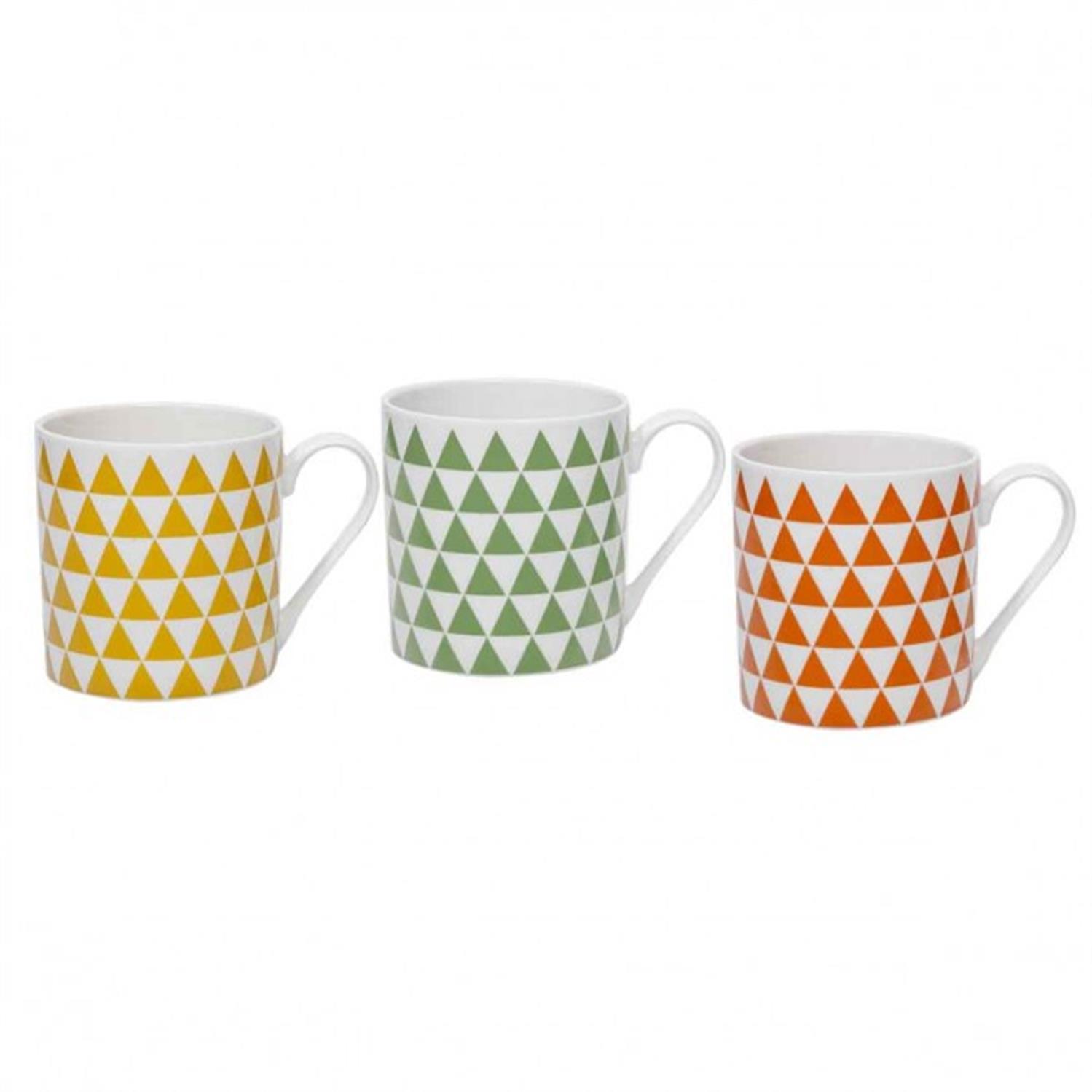Κούπα ρόμβοι πορσελάνινη πορτοκαλί Marva 672004