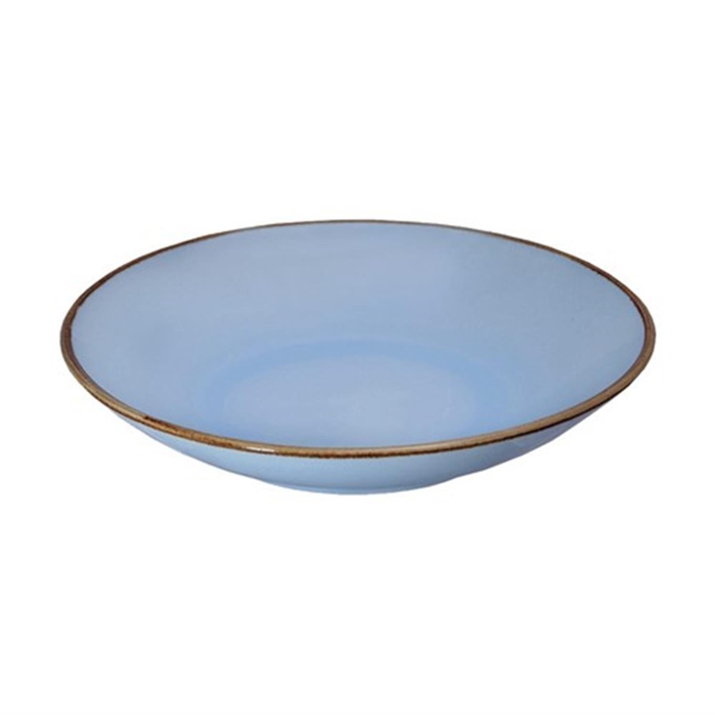 Πιάτο βαθύ stoneware αντικέ γαλάζιο Δ-21cm Espiel SNW1003K6