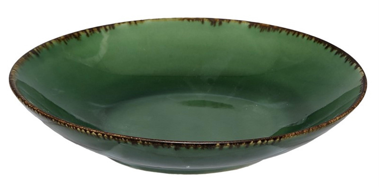 Πιάτο βαθύ stoneware σκούρο αντικέ πράσινο Δ-21cm Espiel SNP1003K6