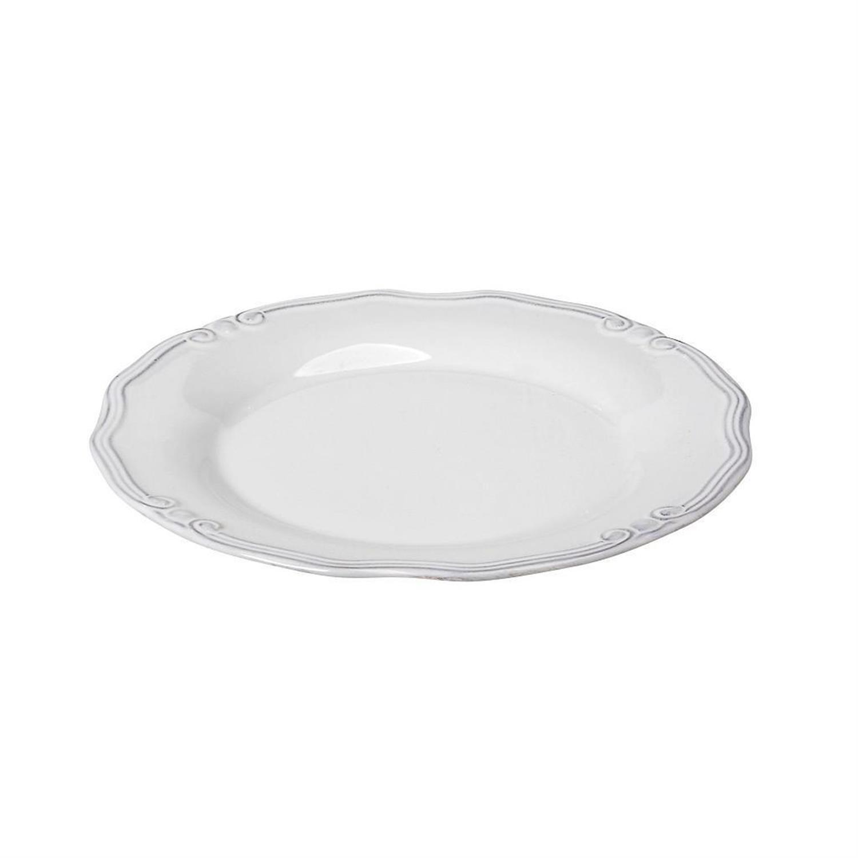 Πιάτο φρούτου Tiffany stoneware λευκό 21x21x2cm Espiel RSW103K6