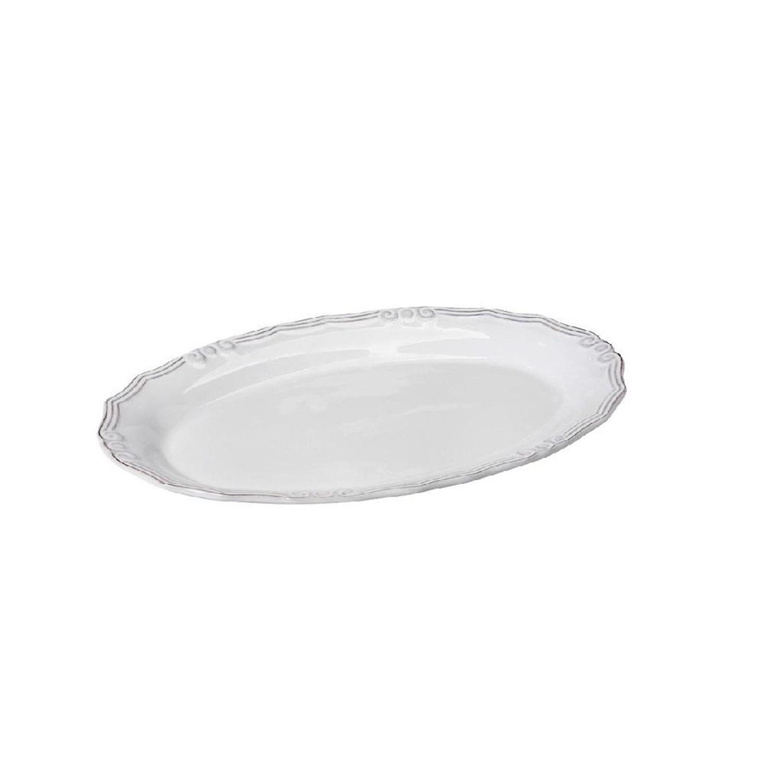 Πιατέλα Tiffany stoneware λευκή 22x14x2cm Espiel RSW106K6