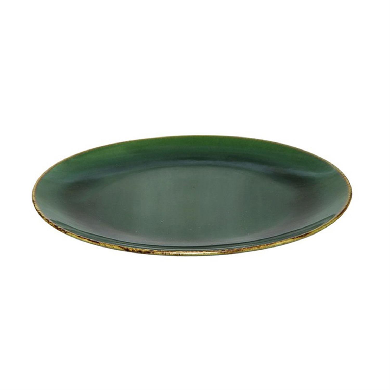Πιατέλα stoneware αντικέ σκούρο πράσινο Δ22cm Espiel SNP1018K6