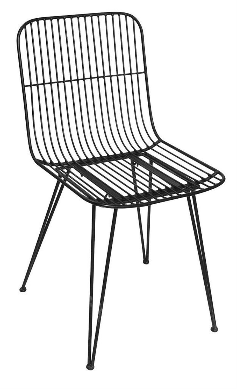 Καρέκλα μεταλλική μαύρη 59x44x83cm Espiel AST541