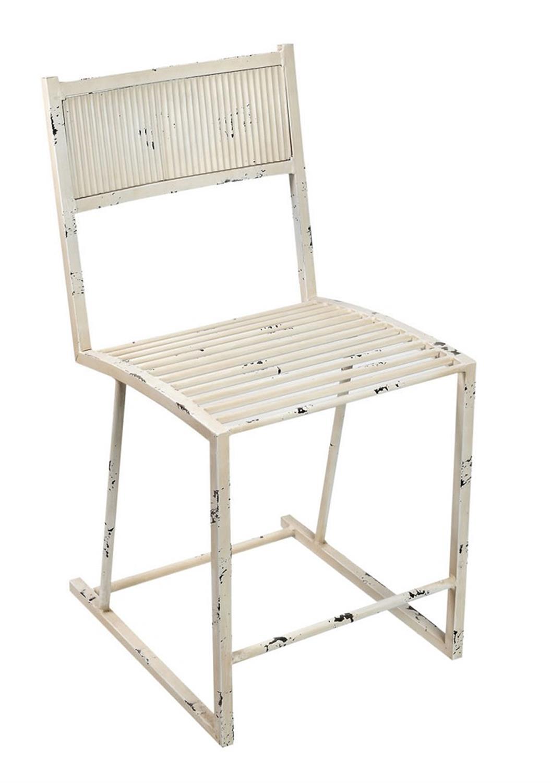Καρέκλα μεταλλική λευκή 58x40x79.5cm Espiel BUR216