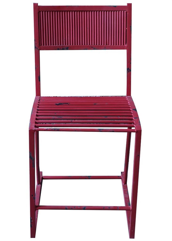 Καρέκλα μεταλλική κόκκινη 58x40x79.5cm Espiel BUR220
