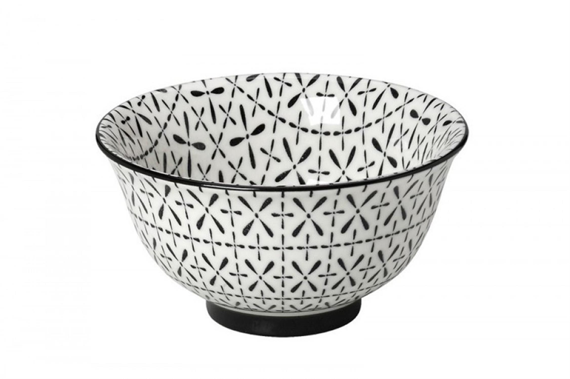 Μπωλ Layla stoneware μαύρο/λευκό 17x17x8.3cm Espiel GUI349K6