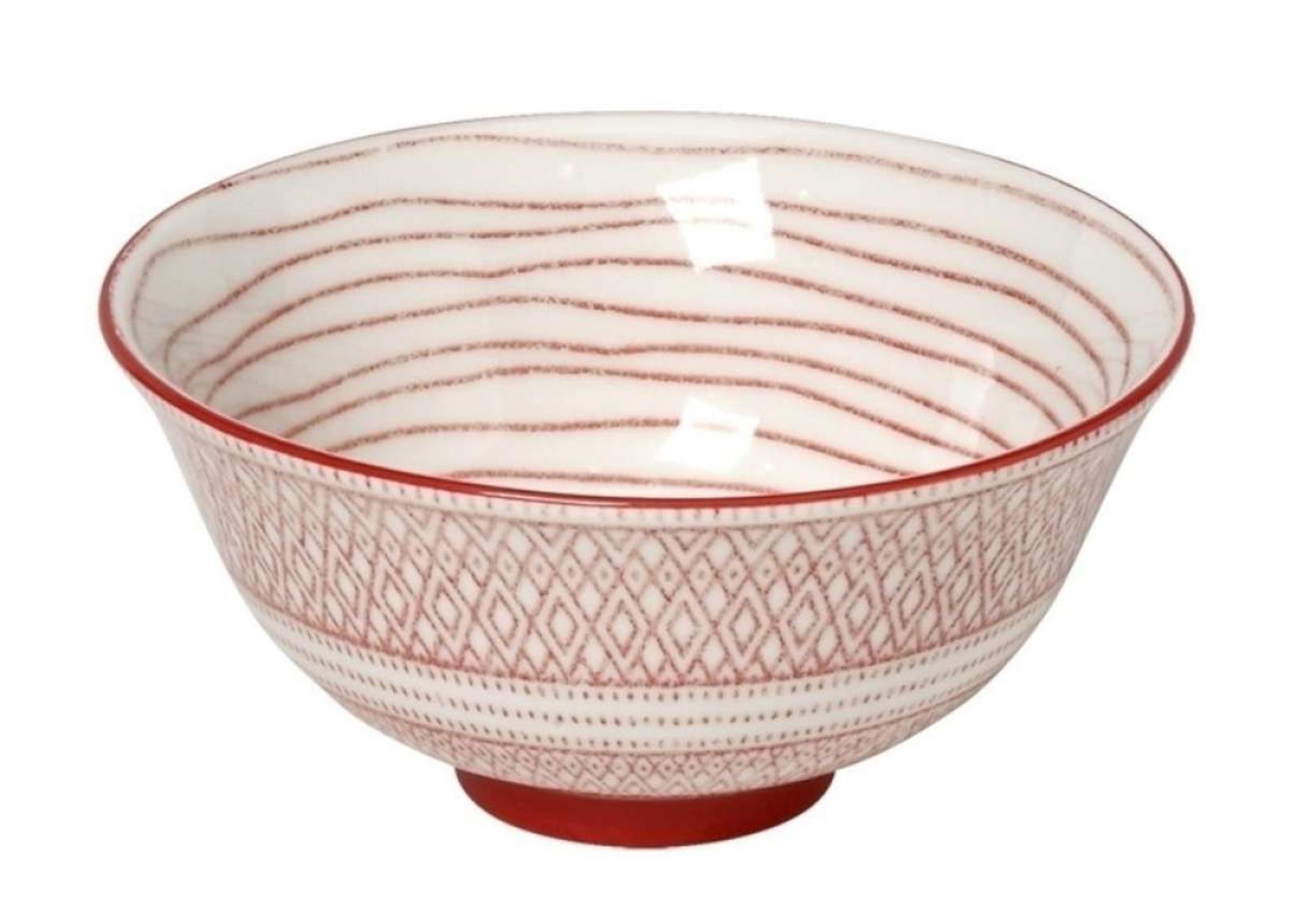 Μπωλ Charlotte stoneware κόκκινο/λευκό 17x17x8.3cm Espiel GUI353K6