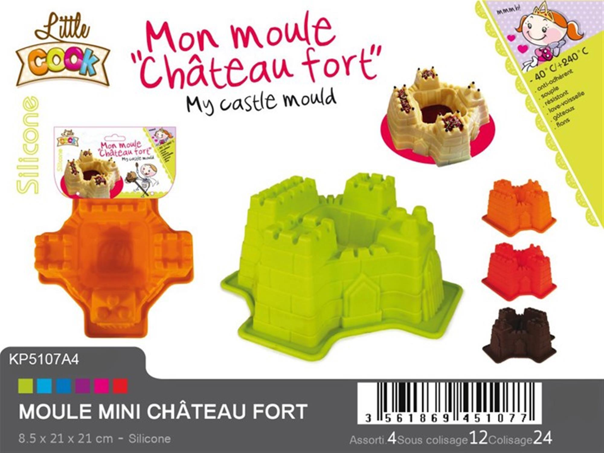 Φόρμα κέικ Κάστρο σιλικόνης πολύχρωμη 21x21x8.5cm Espiel KP5107