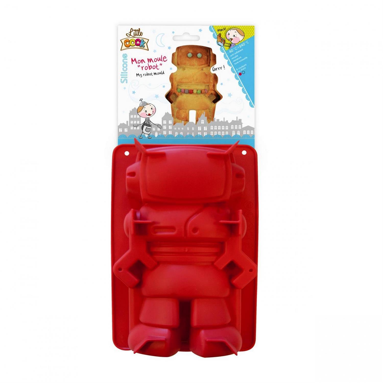 Φόρμα κέικ ρομπότ σιλικόνης κόκκινη 22x14cm Espiel KP5169/KOKKINO