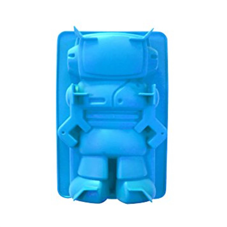 Φόρμα κέικ ρομπότ σιλικόνης μπλε 22x14cm Espiel KP5169/MPLE