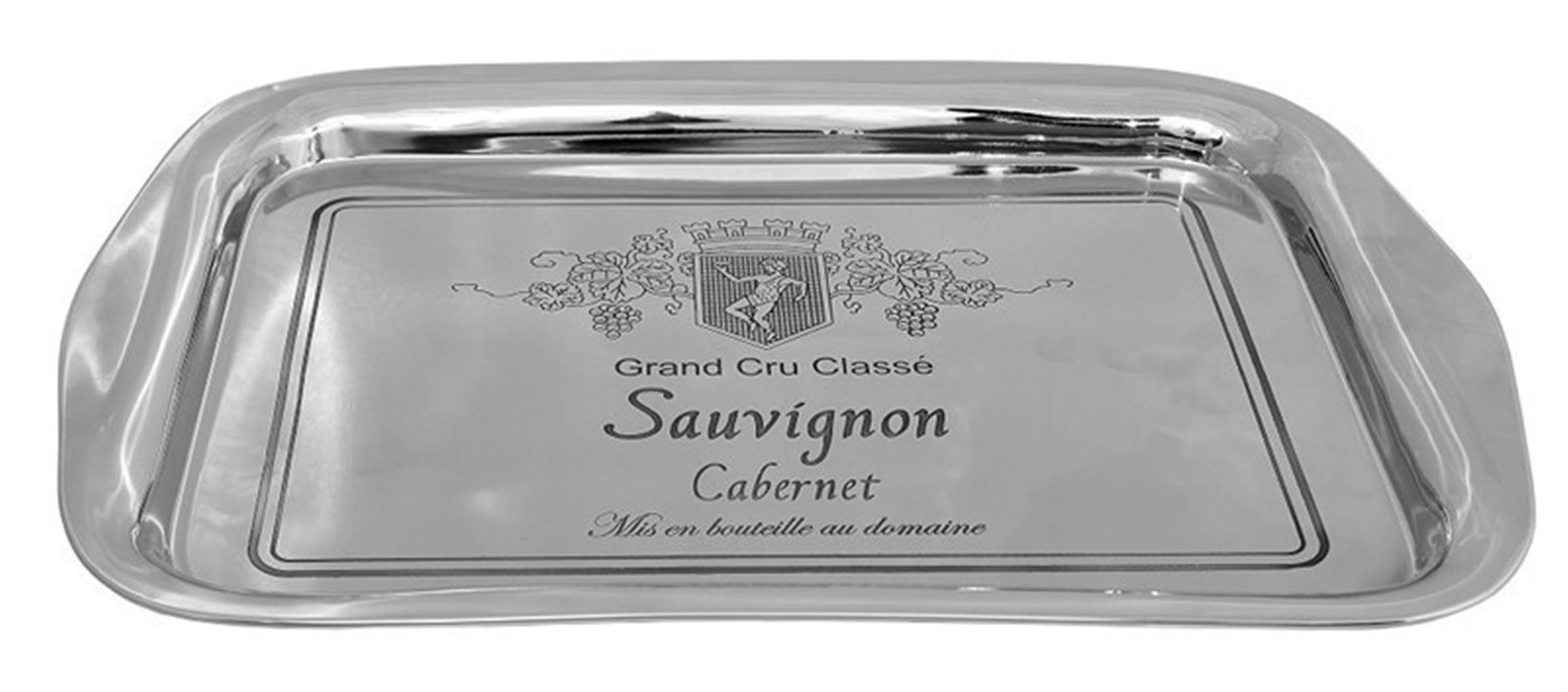 Δίσκος Sauvignon ανοξείδωτος ασημί 45x30x2.5cm Espiel LES132