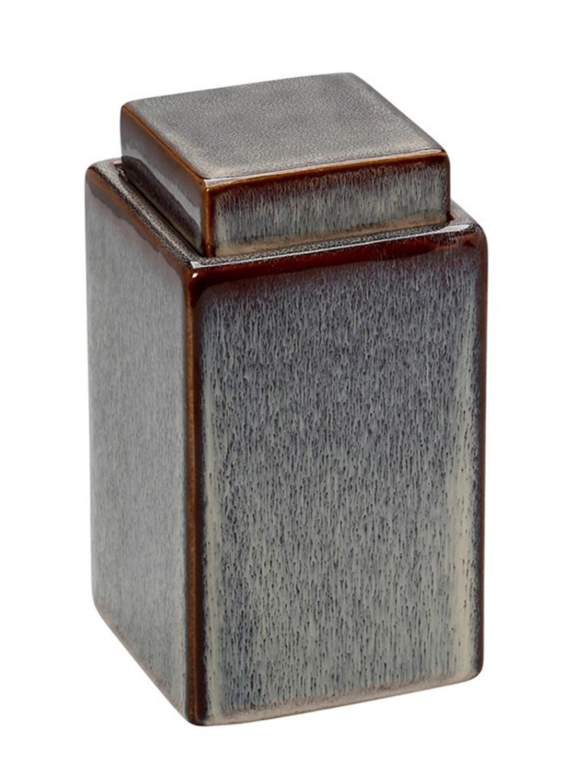 Βάζο διακοσμητικό με καπάκι κεραμικό μωβ/μπορντώ 10x10x17.5cm Espiel ROG311