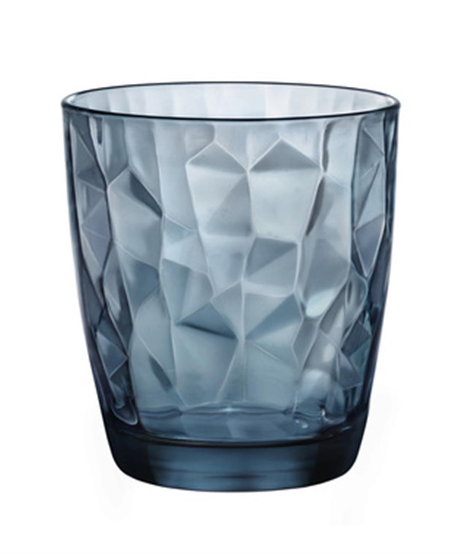 S/6 Ποτήρια κρασιού χαμηλό Diamont μπλε 30.5cl Bormioli Rocco
