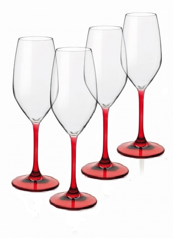Σετ 4 ποτήρια σαμπάνιας special time red 24cl