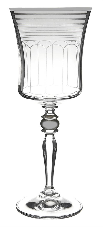 S/6 Ποτήρι κρυστάλλινο νερού Grace 300ml διάφανο/ασημί Bohemia