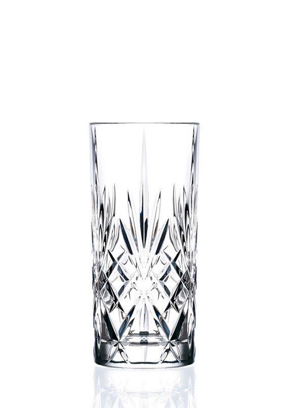 S/6 Ποτήρι σωλήνας Melodia κρυστάλλινο διάφανο 360ml RCR
