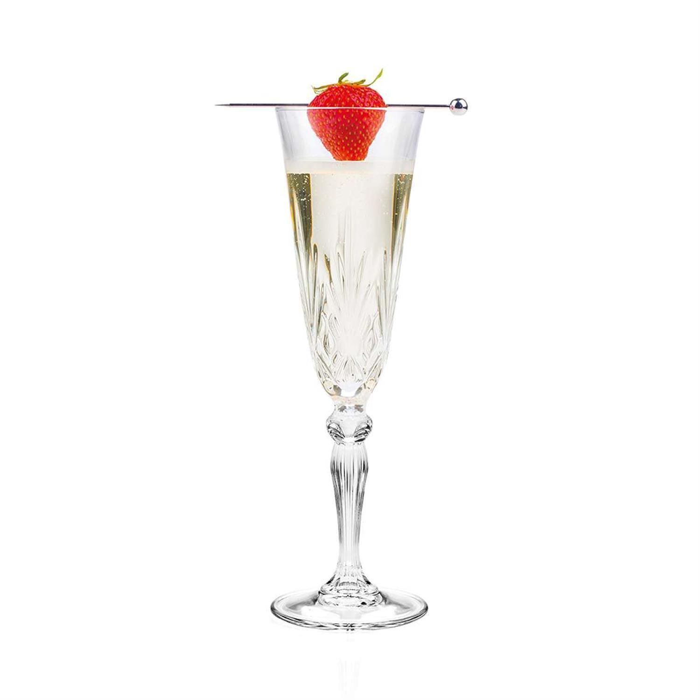 S/6 Ποτήρι σαμπάνιας melodia κρυστάλλινο διάφανο 160ml RCR