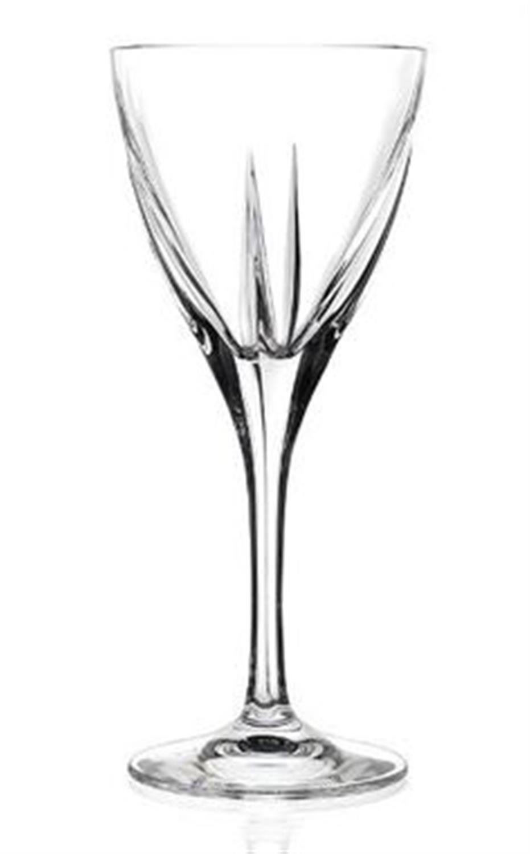 Σετ 6 ποτήρια κρασιού Fusion κρυστάλλινα διάφανα 210ml RCR