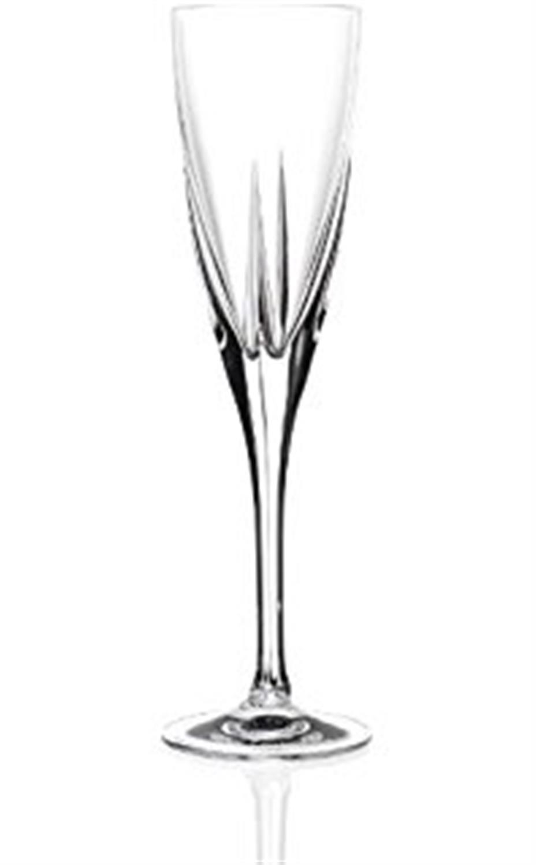 Σετ 6 ποτήρια σαμπάνιας Fusion κρυστάλλινα διάφανα 170ml RCR