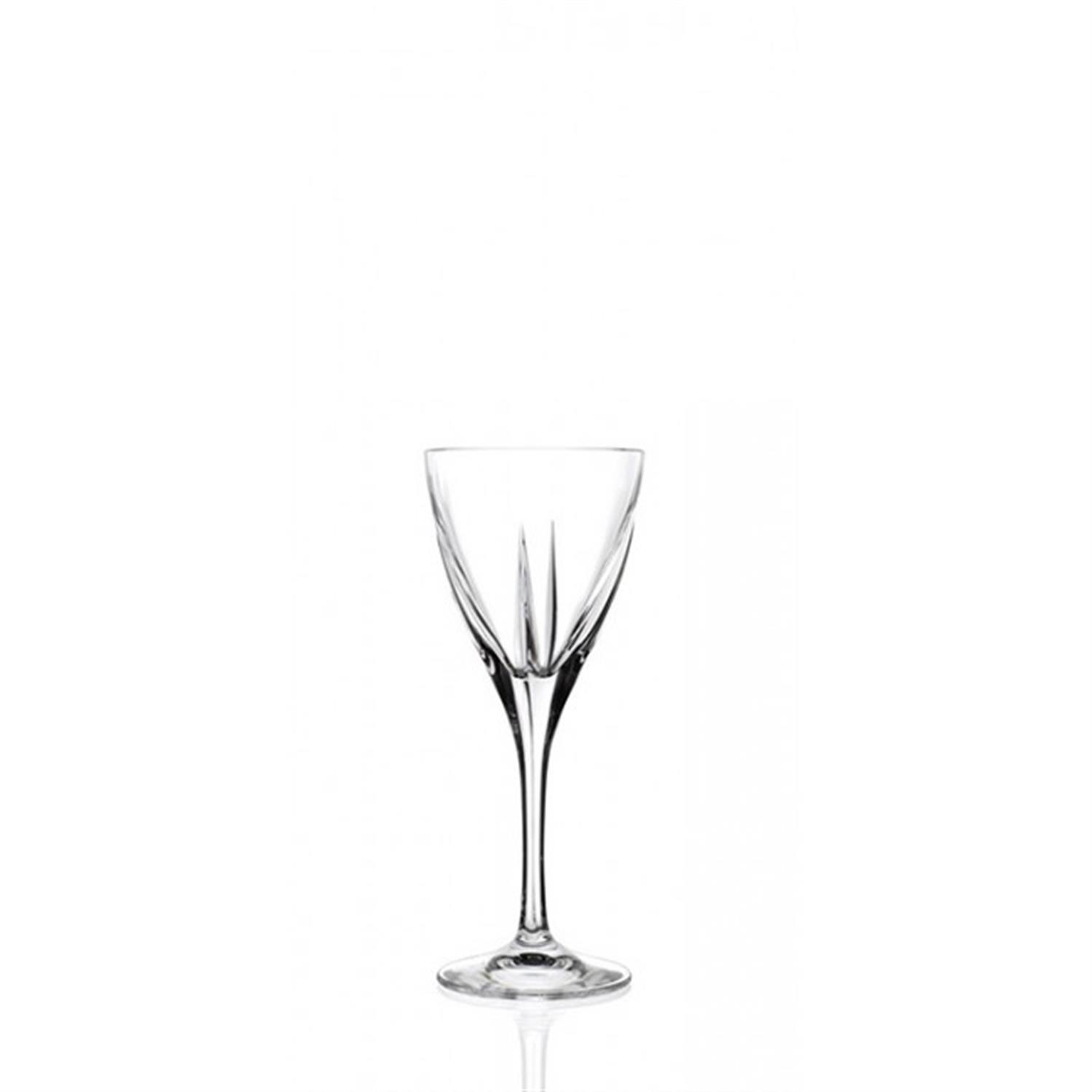S/6 Ποτήρια λικέρ κρυστάλλινα διάφανα RCR Crystalleria Italiana Fusion 70ml 5.8×14.6εκ
